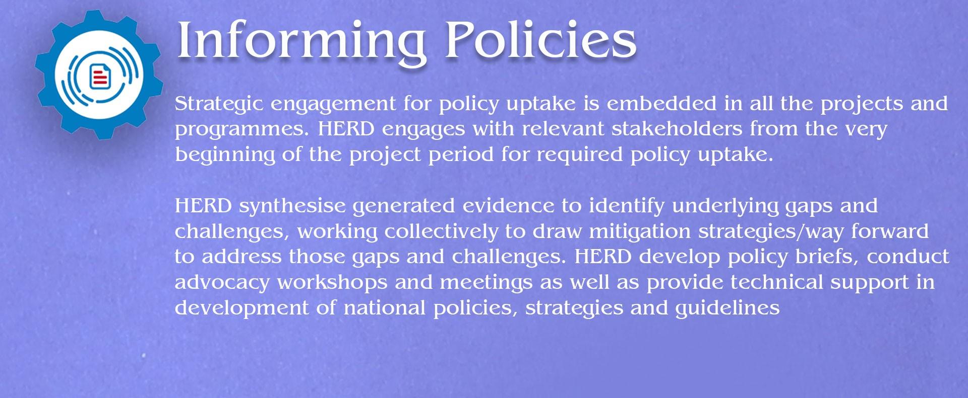 Informing Policies